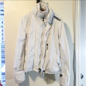 Superdry Jackets & Coats - Superdry women's Windcheater (white, size M)